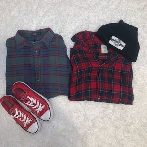 *Lot of 2* Oversized Flannels L & XL